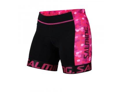 Salming Triathlon Shorts Wmn Black/Pink (Velikost XS)