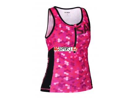 Salming Triathlon Singlet Wmn Pink/Black (Velikost XS)