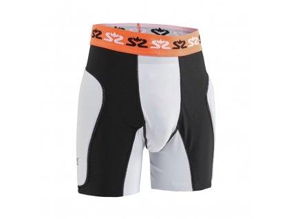 Salming E-Series Protective Shorts White/Orange