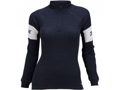 Swix RACEX WARM dámské triko stojáček - tmavě modré
