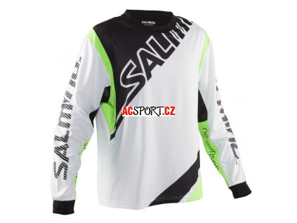 Salming Phoenix Goalie Jsy SR White/GeckoGreen (Velikost XXL)