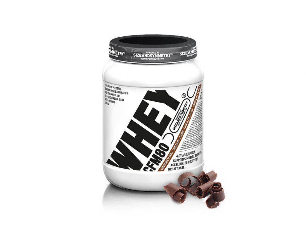 SizeandSymmetry CFM Whey 80% (Obsah 1000 g, Příchuť vanilka)