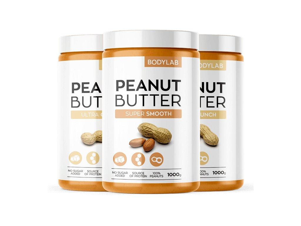 Bodylab Peanut Butter (Obsah 1000 g, Příchuť super jemné arašídy)