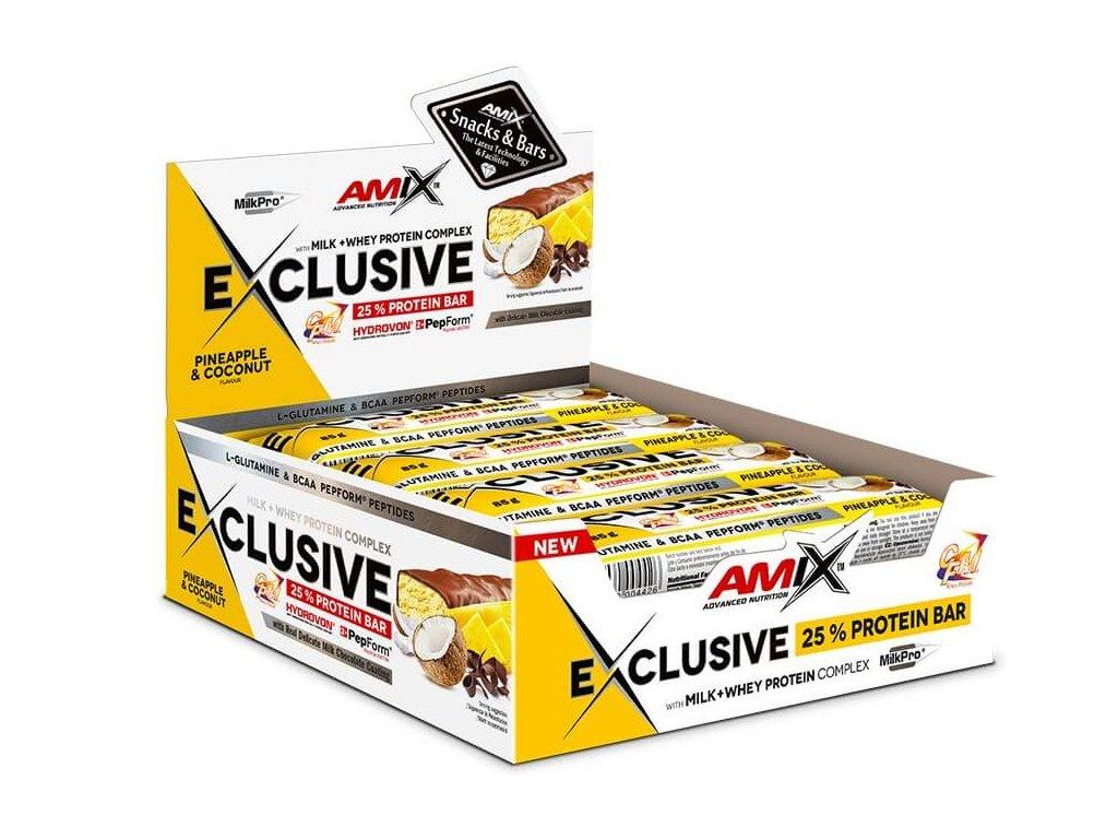 Amix Exclusive Protein Bar (Obsah 85 g, Příchuť čokoláda/pomeranč)