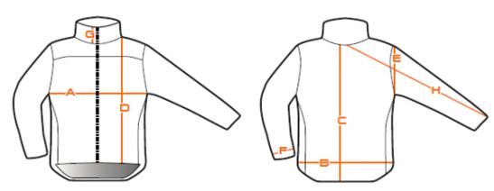 Velikostní tabulka - nákres