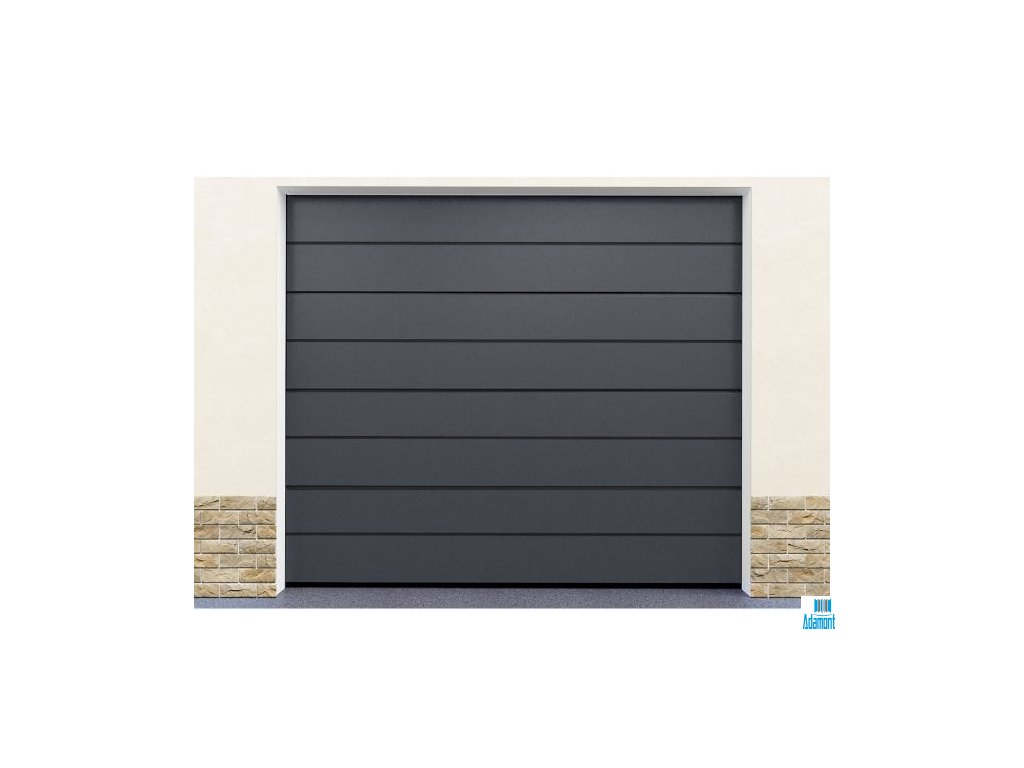 Sekční garážová vrata DoorHan Satin grey  Sekční garážová vrata DoorHan Satin grey
