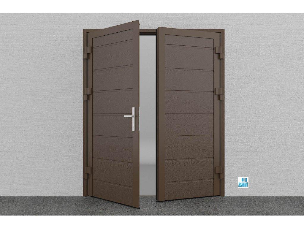 Dvoukřídlé dveře M line 8014 wood grain (1)