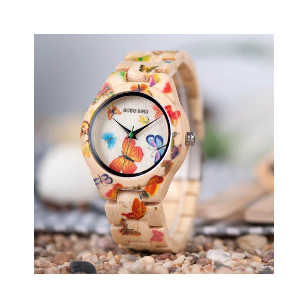 Drevené hodinky Elisabethe