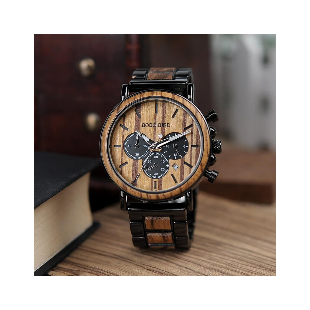 Dřevěné hodinky Jerome