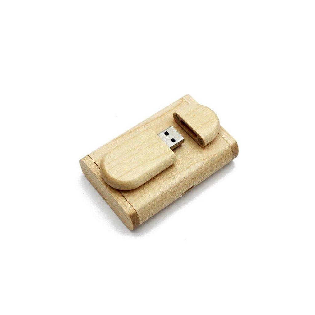 Flash disk – svetlé drevo