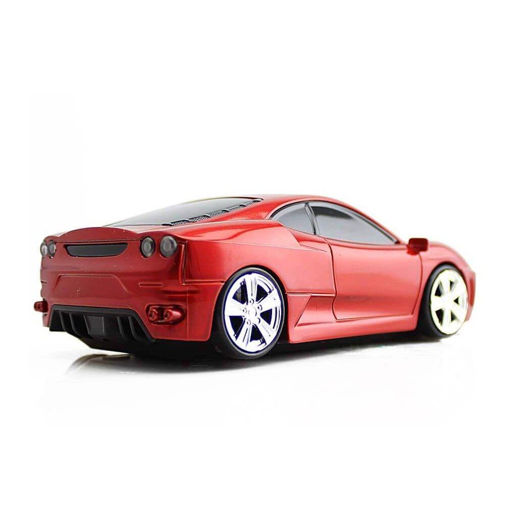 Luxusné auto – myš k počítaču, červená