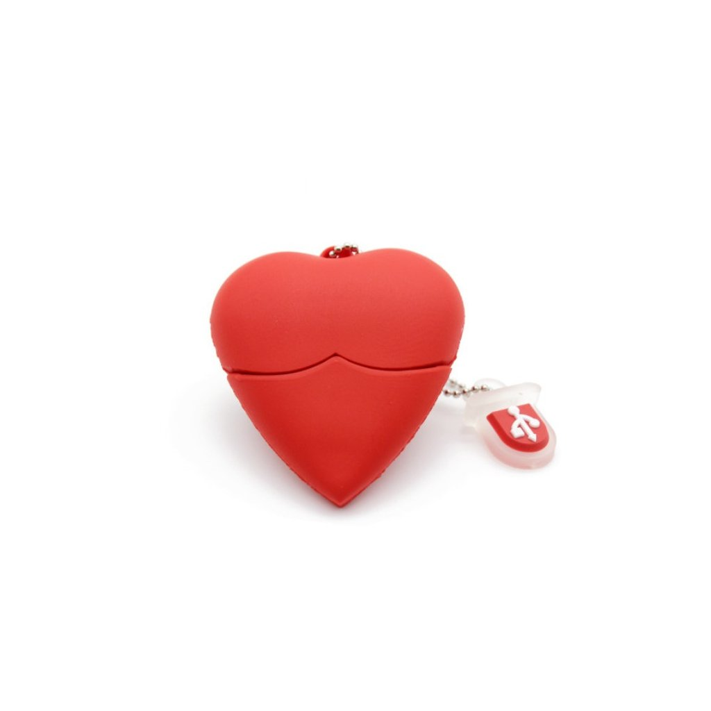 USB flash disk červené srdce 32 GB