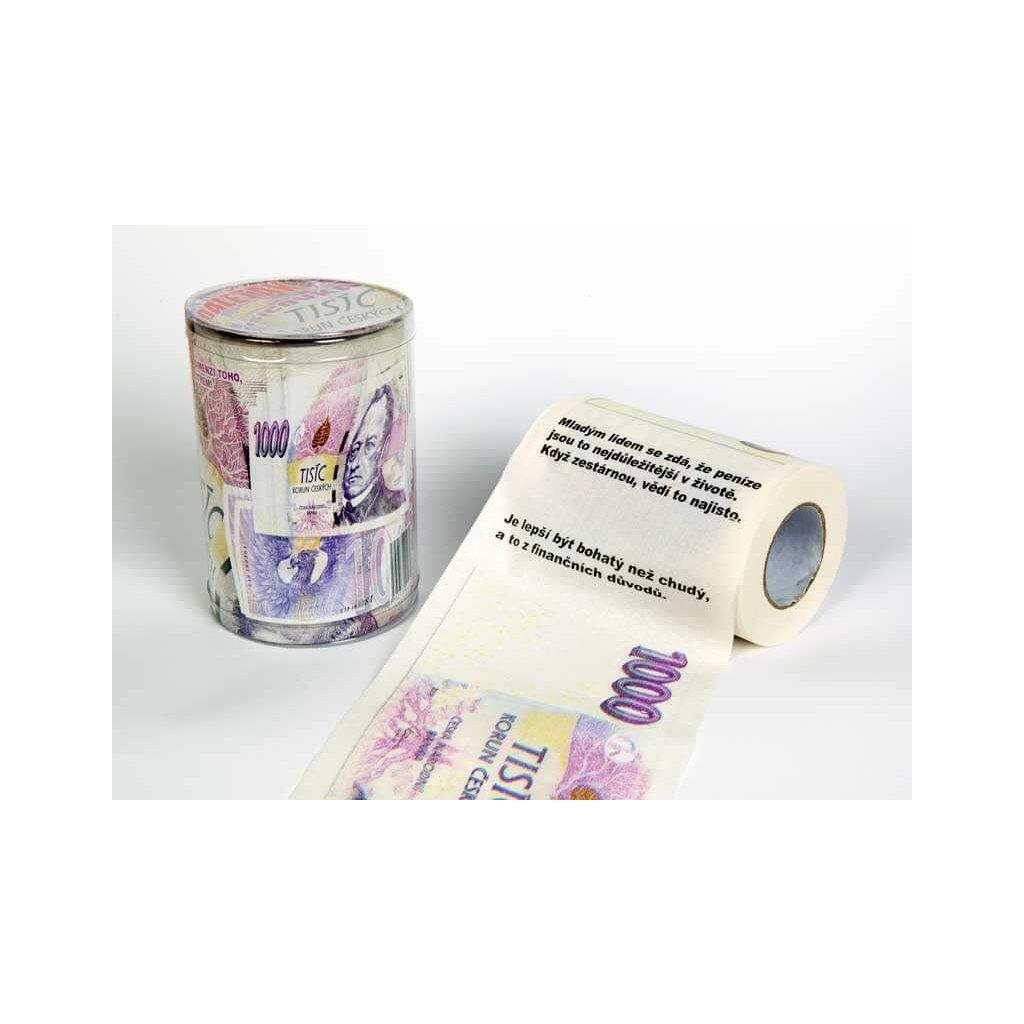 Toaletný papier tisícka s citátmi