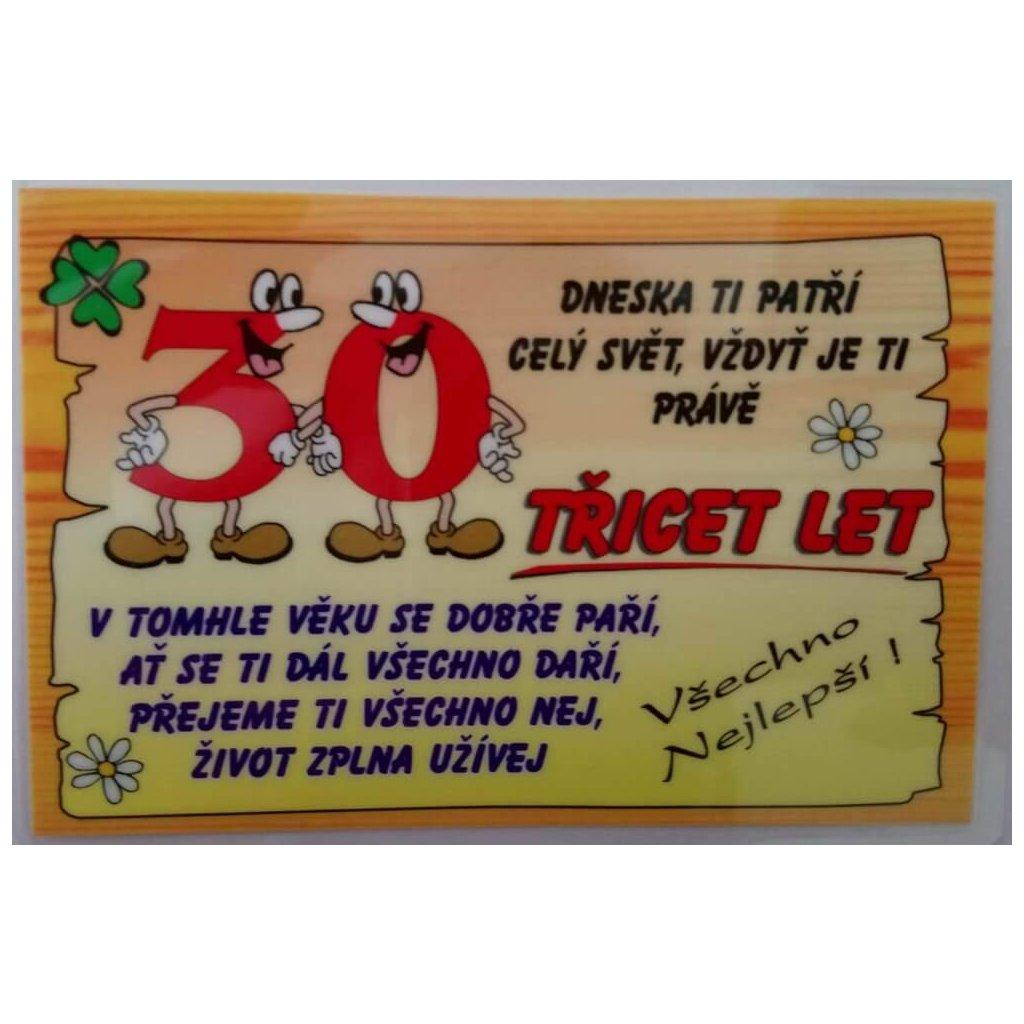 Vtipné přání k narozeninám - 30 let