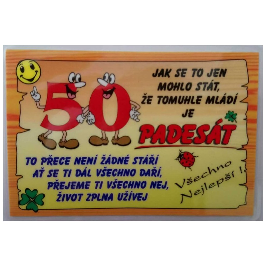 Vtipné přání k narozeninám - 50 let