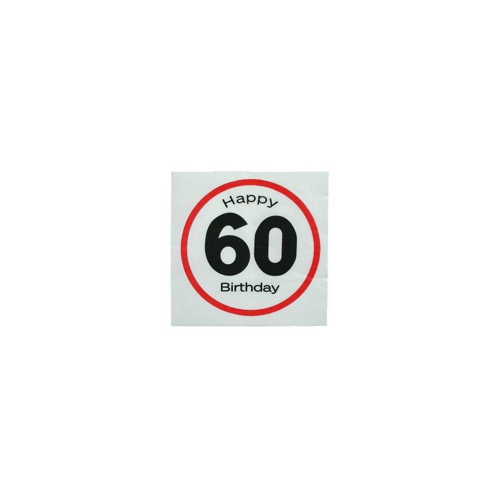 Narozeninové ubrousky 60