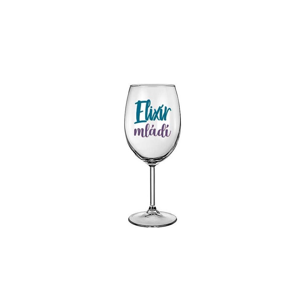 Sklenička na víno - Elixír mládí