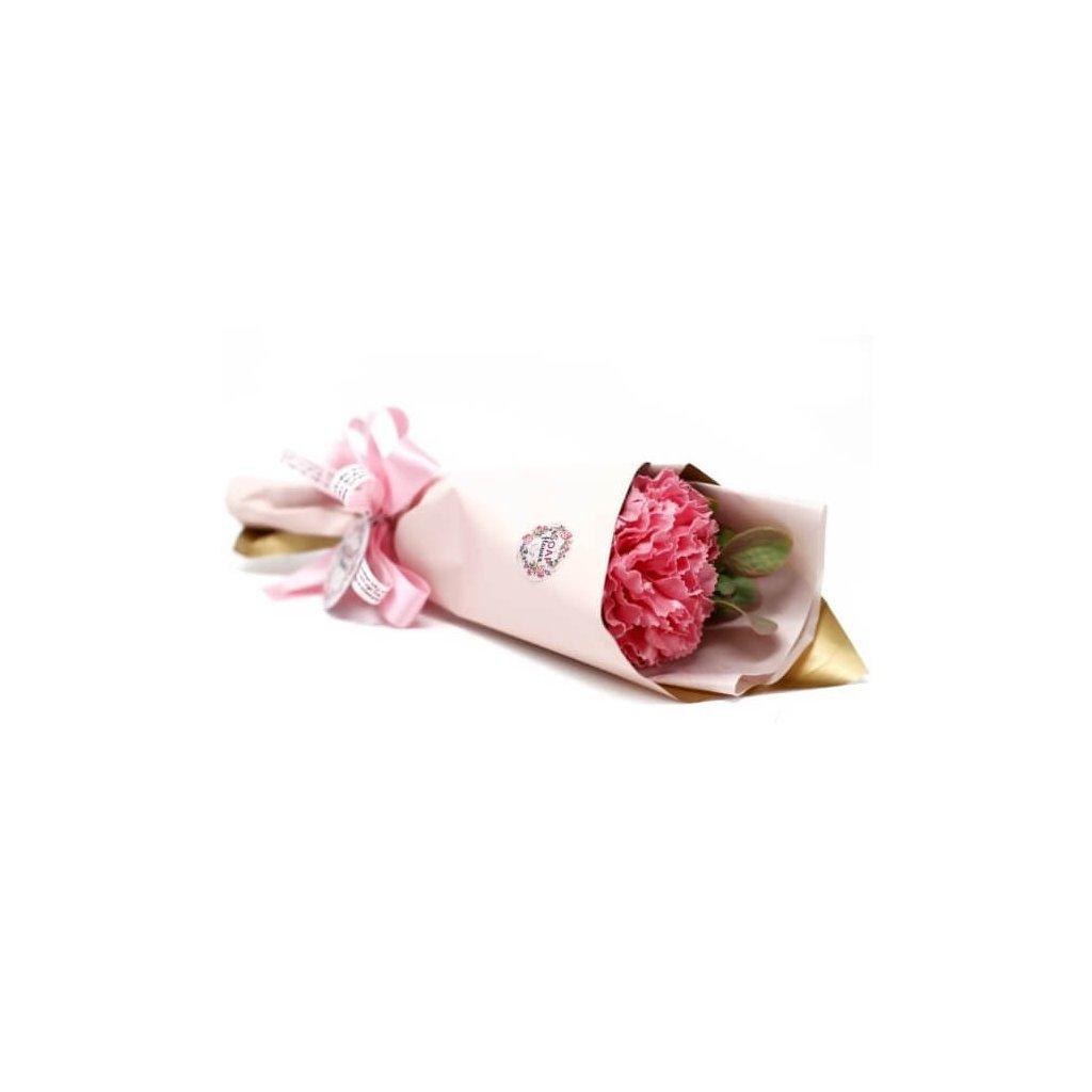 Darčeková kvetina s mydlovým karafiátom