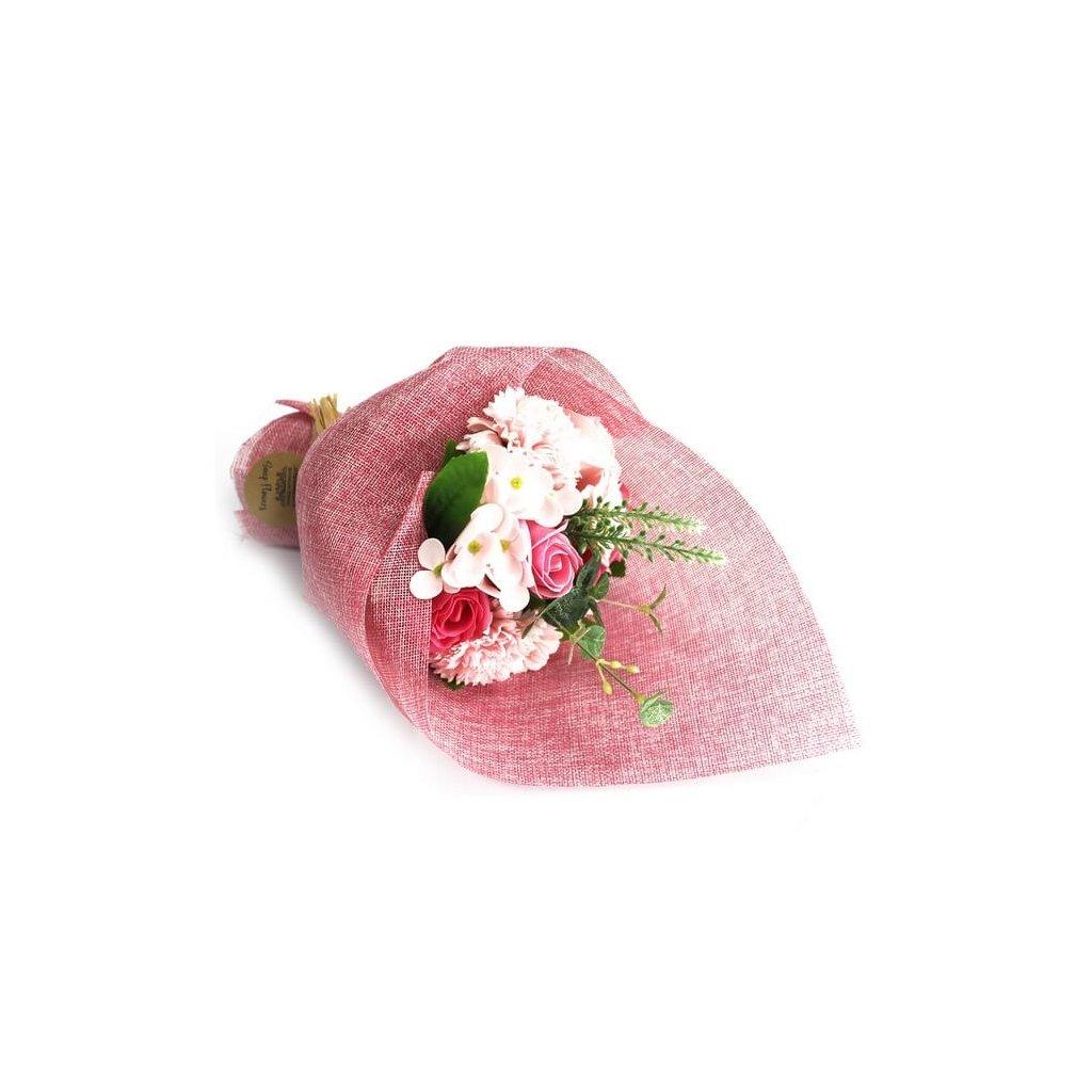 Mýdlová kytice růžová