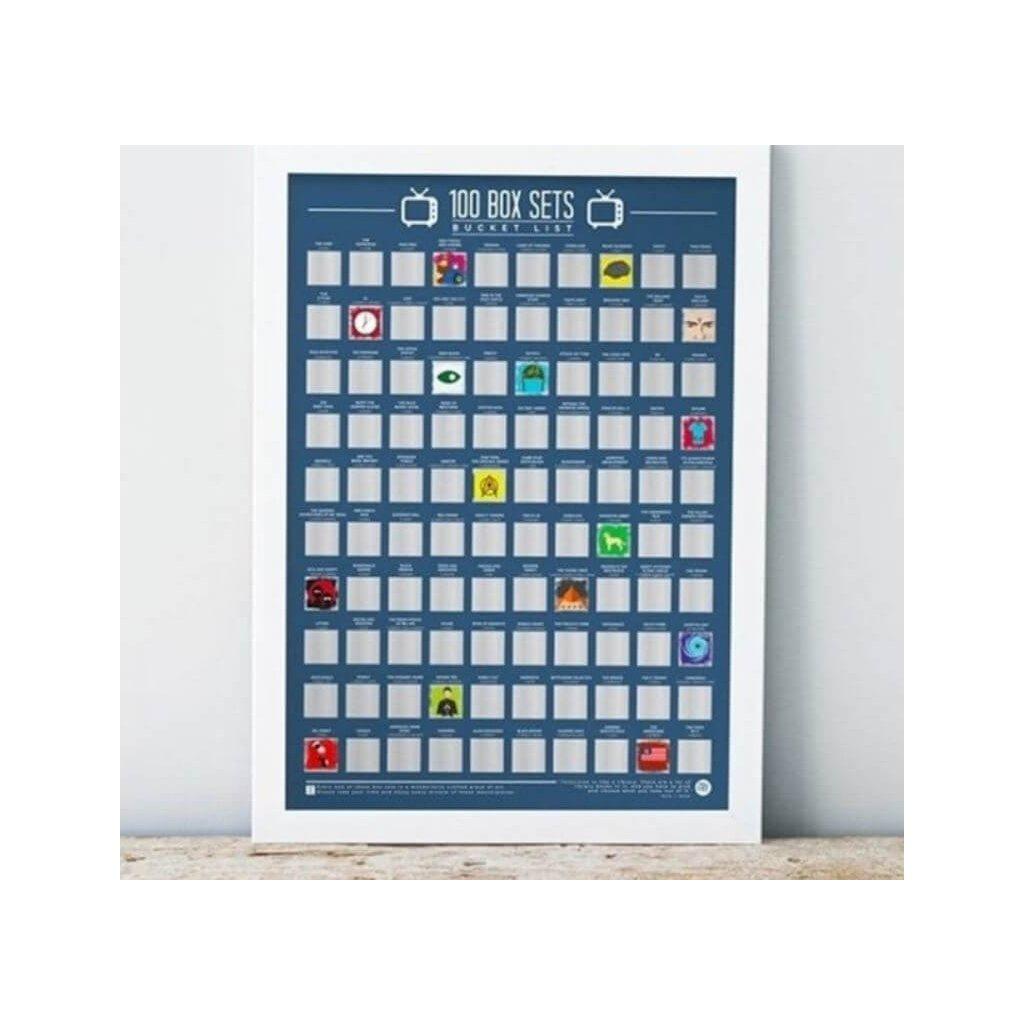 Stírací plakát 100 box TV sets