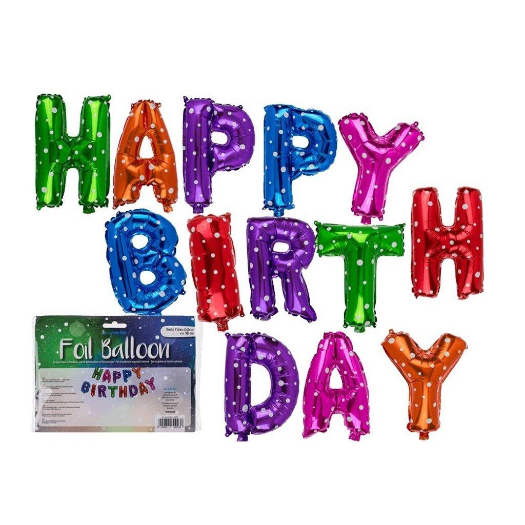 Balóniky HAPPY BIRTHDAY