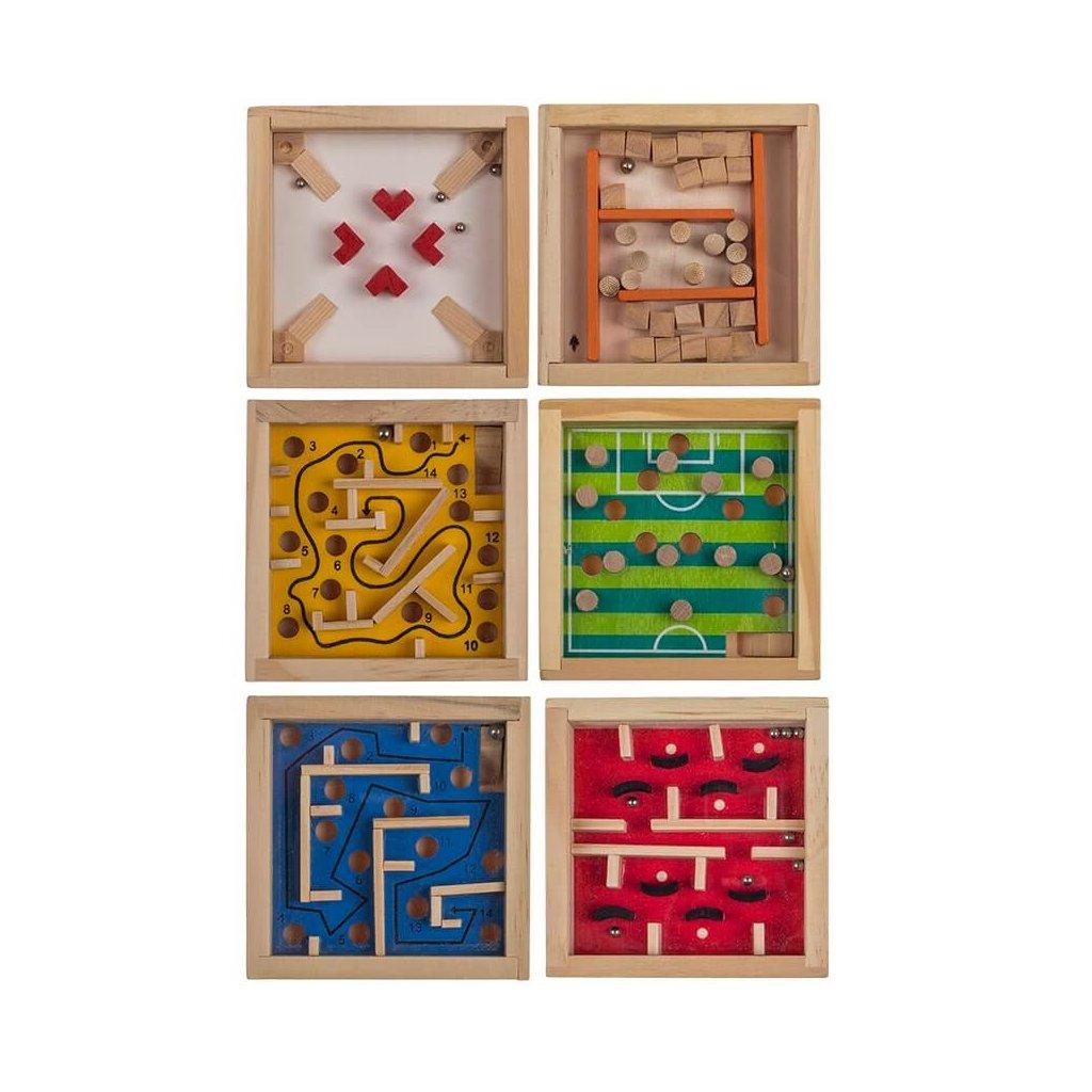Drevený mini labyrint