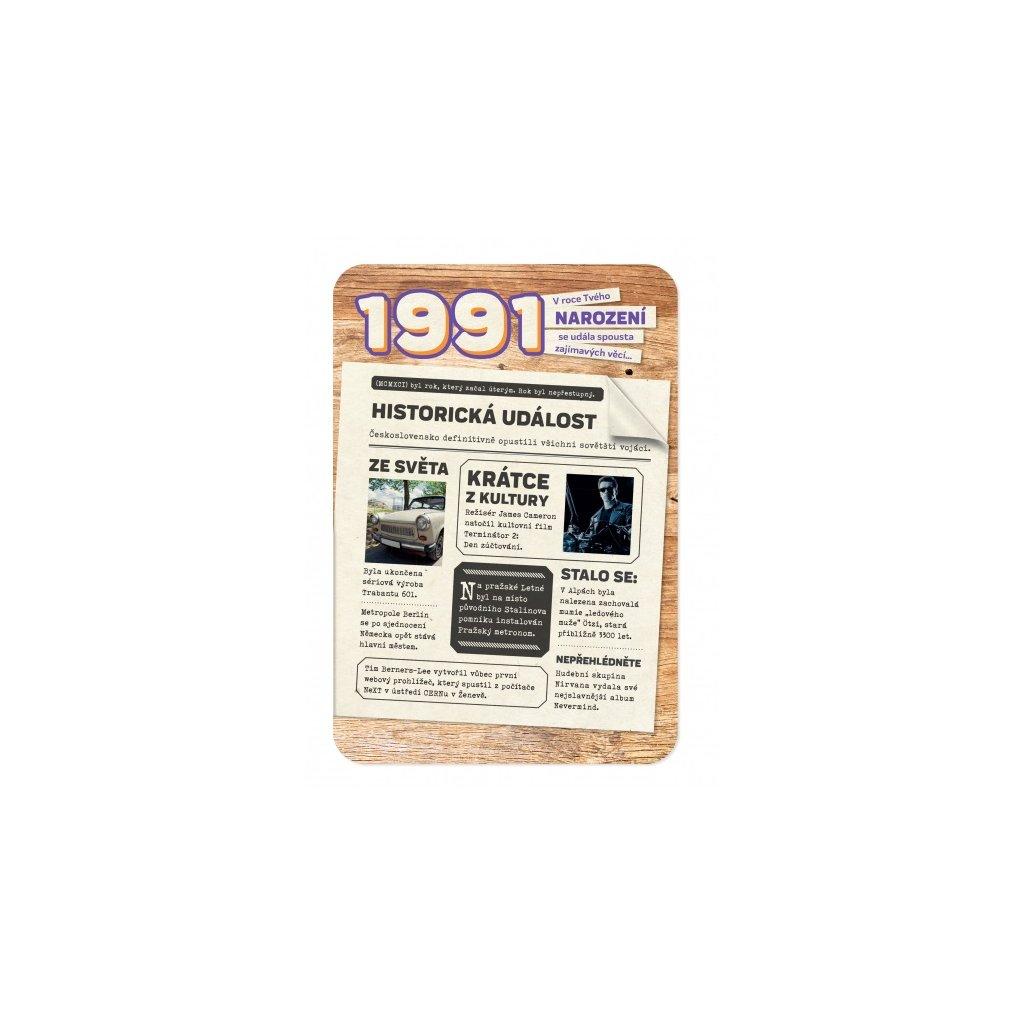 Retro přání z roku narození 1991