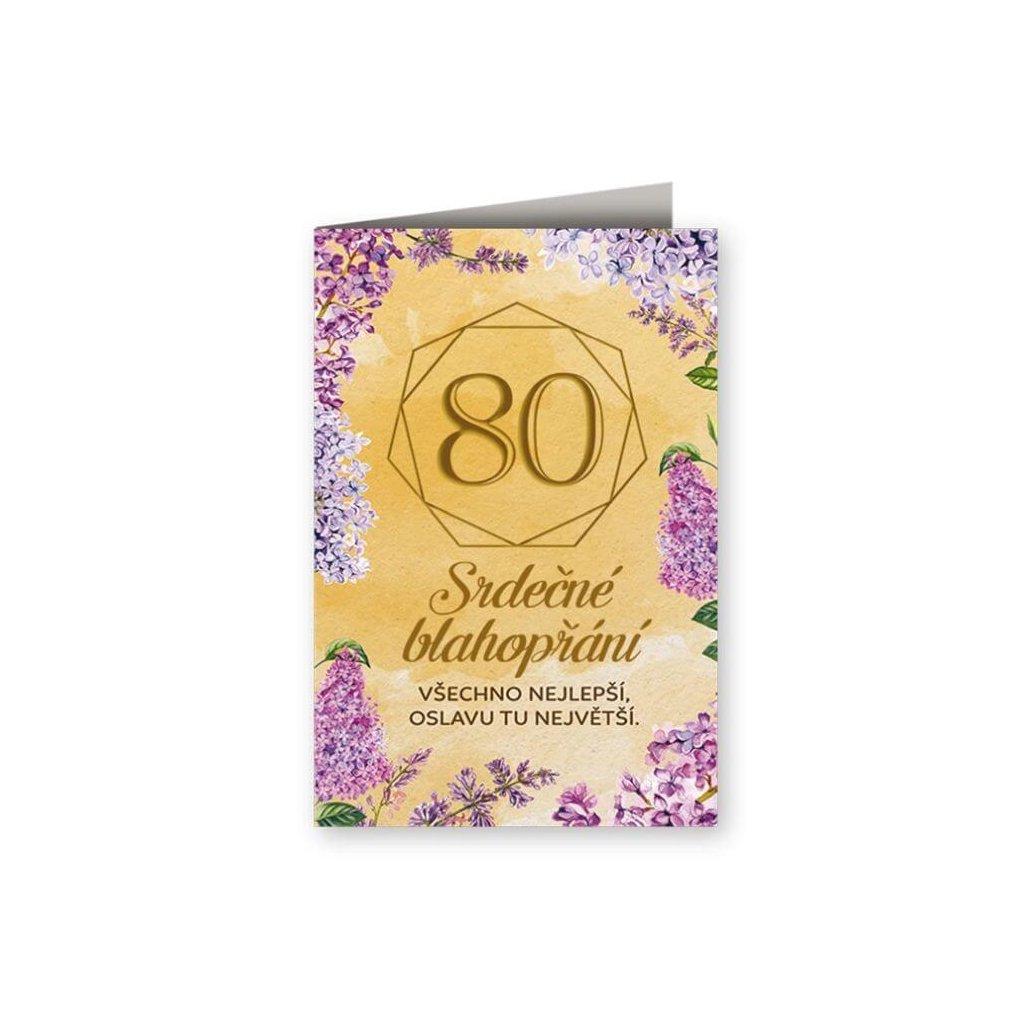 Srdečné blahopřání 80