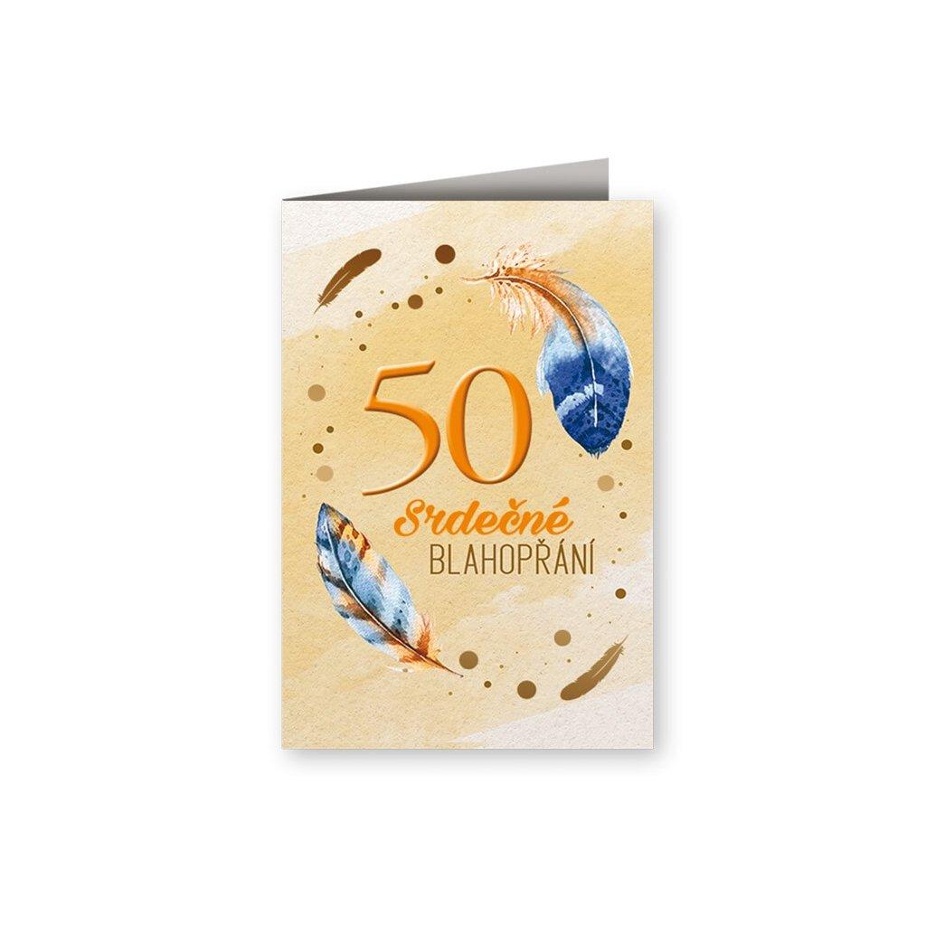 Srdečné blahopřání 50