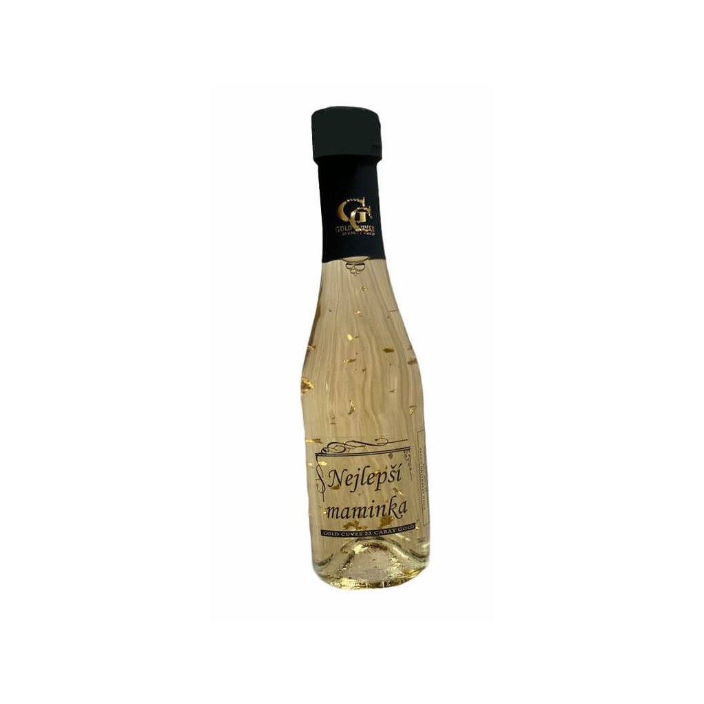 Šumivé víno se zlatem - Nejlepší maminka