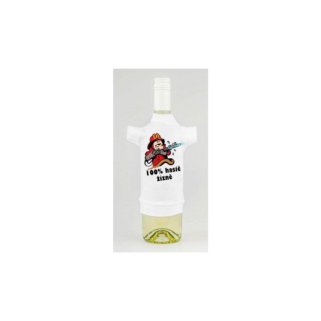 Triko na lahev - 100% hasič žízně