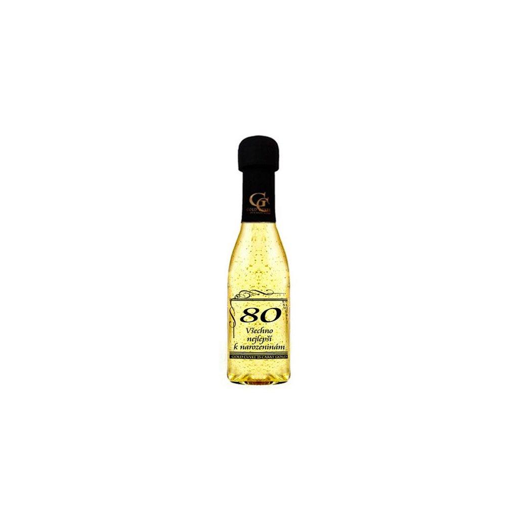 Šumivé víno se zlatem - 80 let