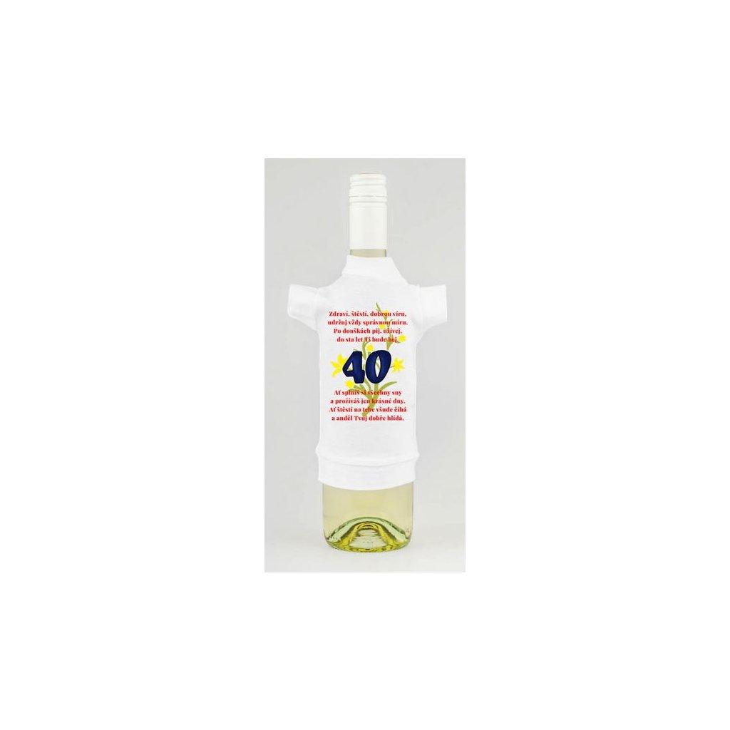Triko na lahev - Zdraví, štěstí, dobrou víru 40