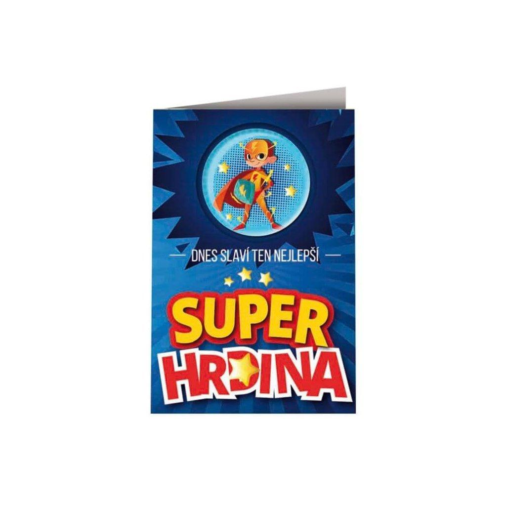 Přání s plackou - superhrdina
