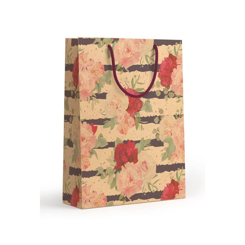 Darčeková taška, malá, Kvety