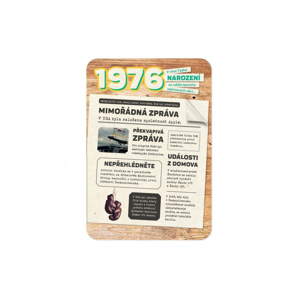 Retro přání z roku narození 1976