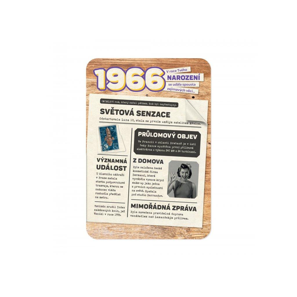 Retro přání z roku narození 1966