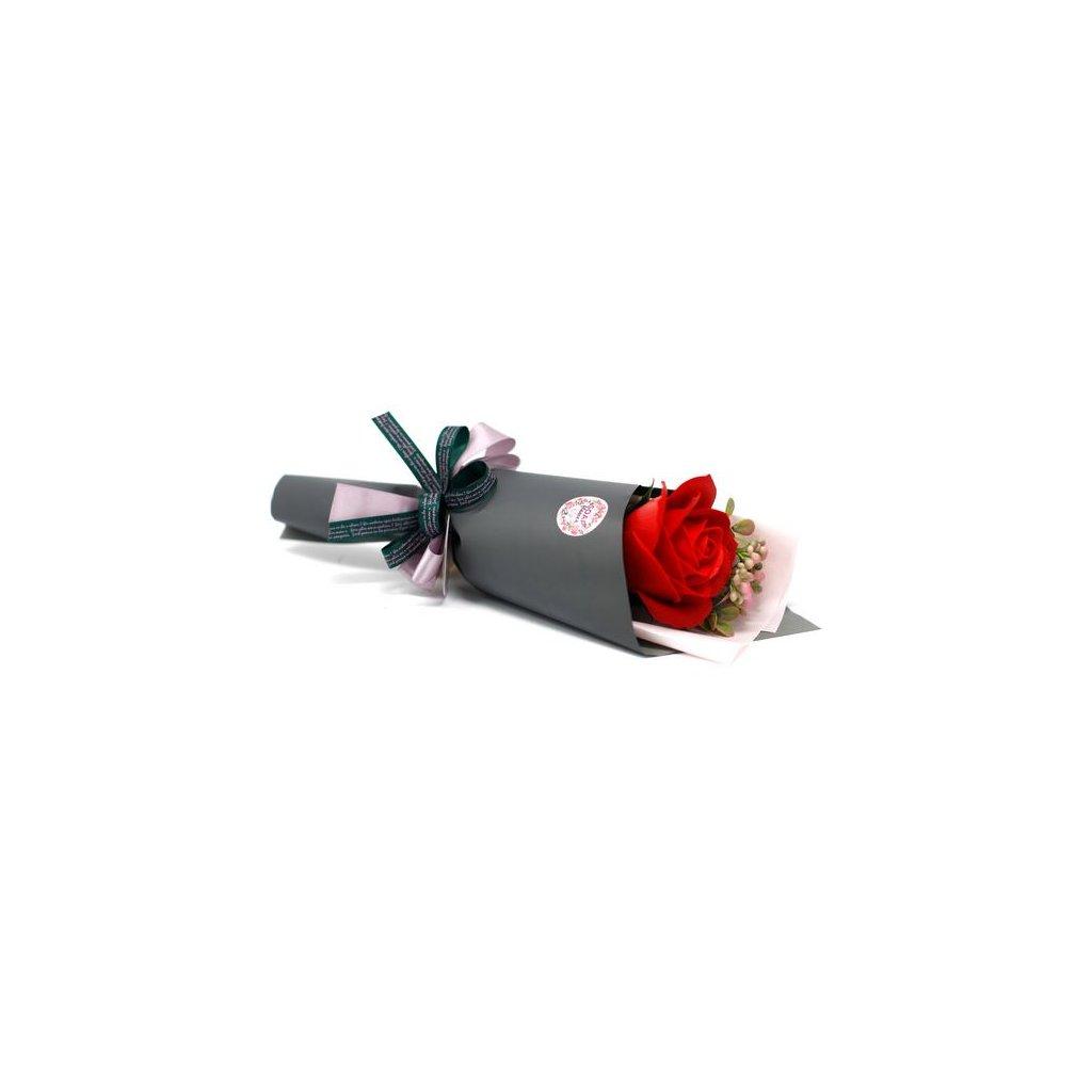 Dárková květina s mýdlovou růží