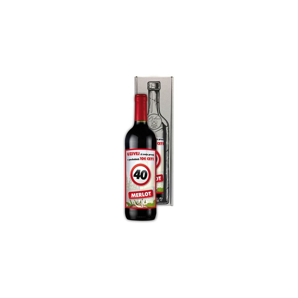 Víno- Vše nejlepší 40 červené