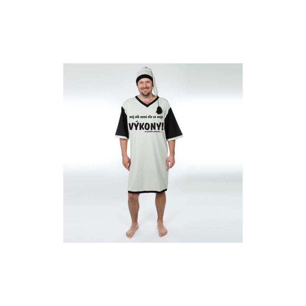 Nočná košeľa – Môj vek nemá vplyv na moje výkony – vel. XL