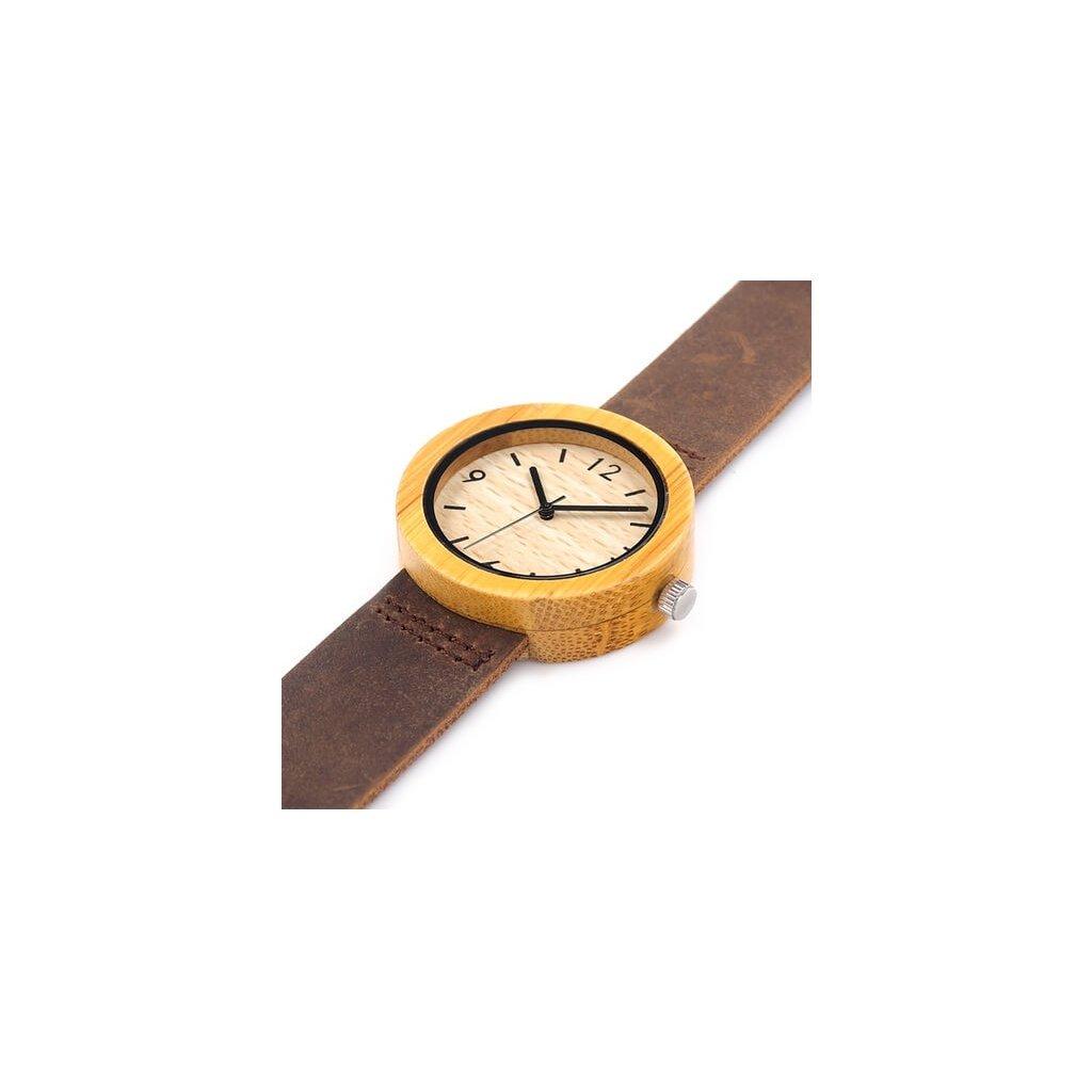Drevené hodinky Brigitte