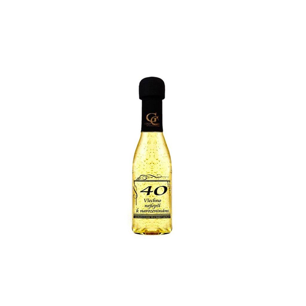 Šumivé víno se zlatem - 40 let