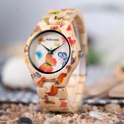 Dřevěné hodinky Elisabethe