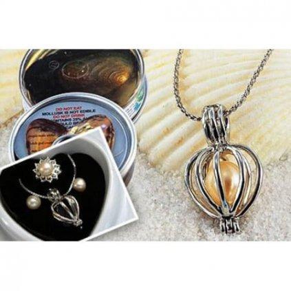 Perla přání s naušnicemi a prstenem
