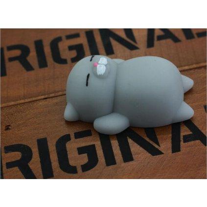 Antistresová šedá mini mačička