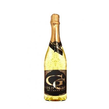 Šumivé víno se zlatem