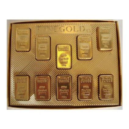Čokoládové zlaté tehly