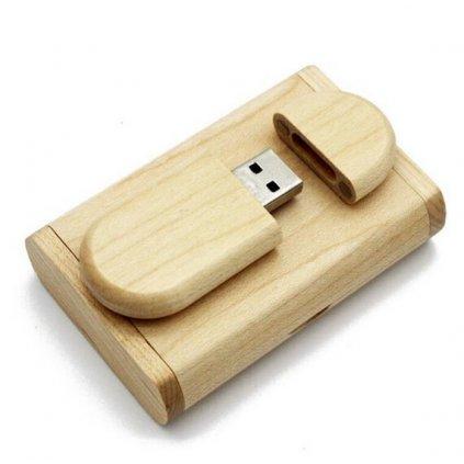 Flash disk dřevo světlé