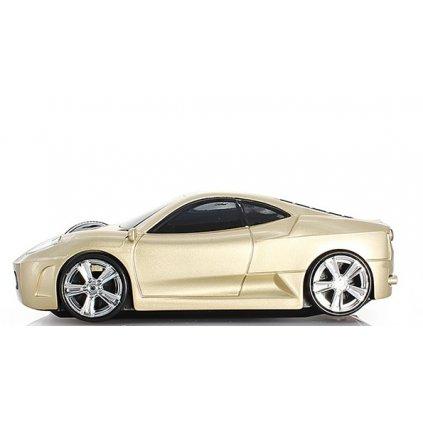 Luxusní auto myš k počítači zlatá