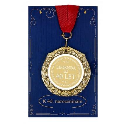 Narozeninové přání s medailí 40